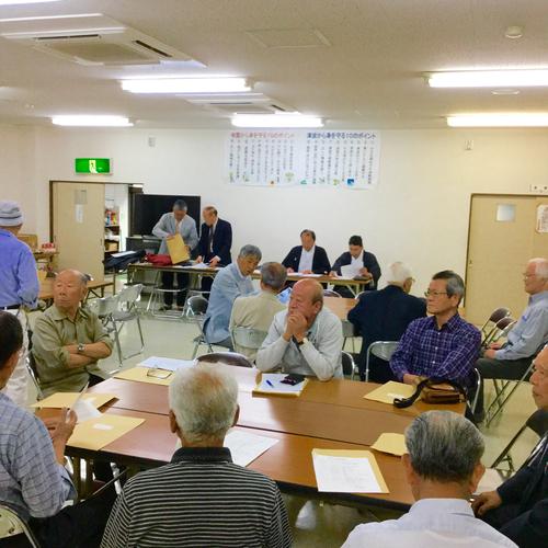 氏子会総会が行われています。