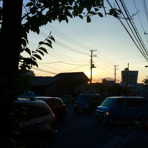 夕焼けが綺麗でした。