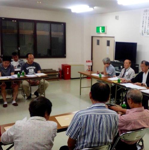 今年の夏祭りに向け祭礼実行委員会が行なわれました。