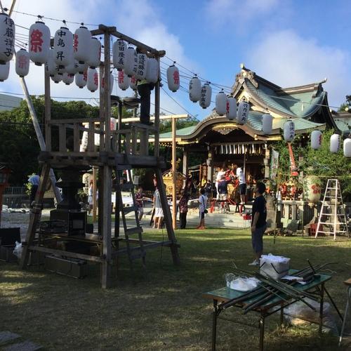 久里浜天神社祭礼当日を迎えました。