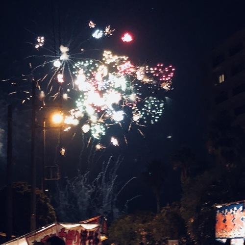7月14日 ペリー祭の花火大会、盛り上がりました。